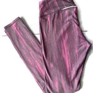 Kyodan burgundy/black soft leggings. SZ: M